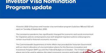 Bang Victoria mở cửa chương trình đề cử thị thực Visa 188 & Visa 132