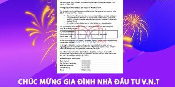 Chúc mừng nhà đầu tư V.N.T được cấp thị thực Visa 188A